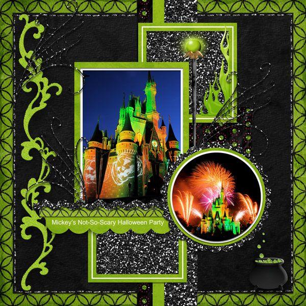 Hallowishes/Castle: Scrapbook Ideas, Layout Ideas, Scrapbook Disney, Halloween Layout, Disney Halloween, Disney Layout, Halloween Disney Scrapbook, Halloween Scrapbook Layout, Scrapbook Layoutsdisney