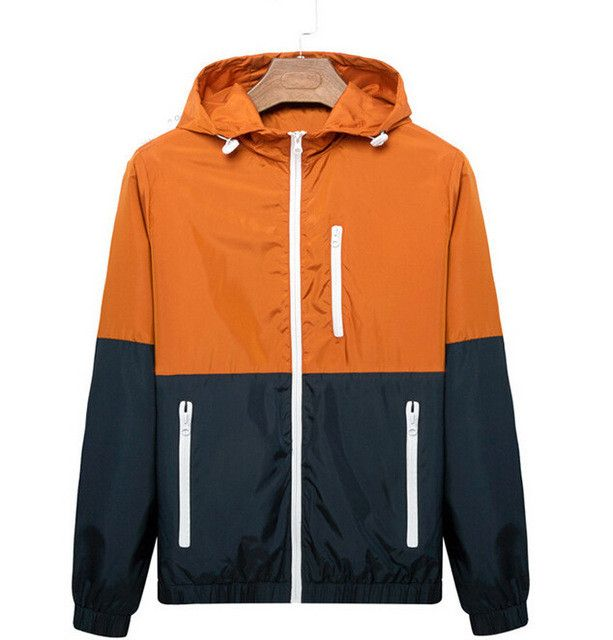 2-Color Slim Nylon Jacket