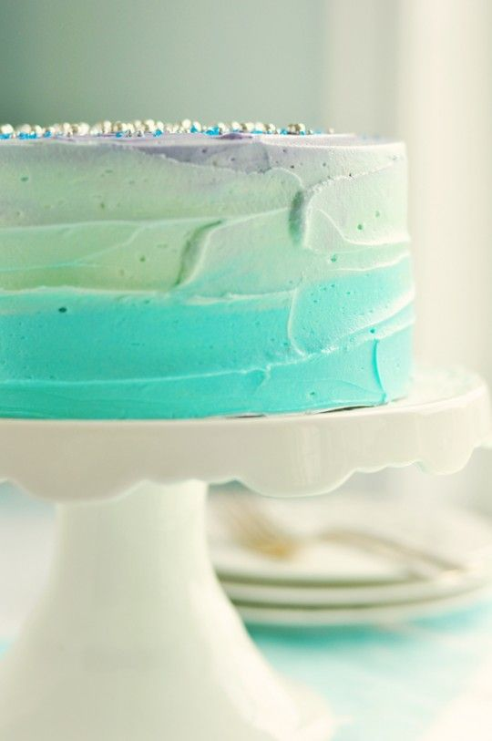 swirl cake in perfect summer palette  perfect for mermaid party: Cakes Tutorials, Ombre Cakes, Full Videos, Color, Pastel Swirls, Videos Tutorials, Blue Cakes, Swirls Cakes, Pastel Cakes
