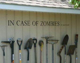 Zombie, in caso di zombie Wall Decal, divertente vignetta