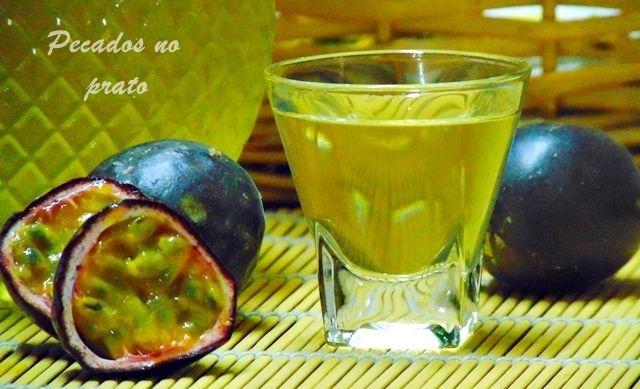 Receitas de pecados no prato: Licor de maracujá