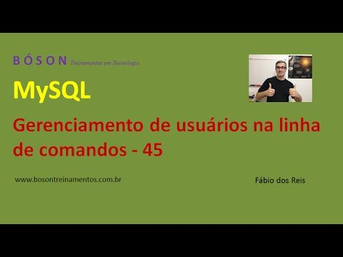 Curso de #MySQL – Gerenciamento de Usuários do sistema – Criar, Consultar...