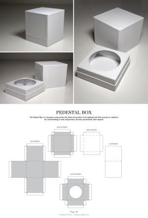 Pedestal Box - Packaging & Dielines: The Designer's Book of Packaging Dielines by silvia
