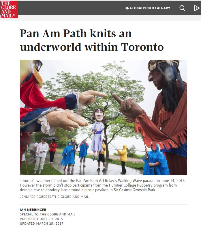 Globe and Mail: Pan Am Path knits an underworld within Toronto