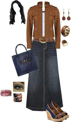 17 Best images about Denim Skirts on Pinterest | Maxi skirts ...