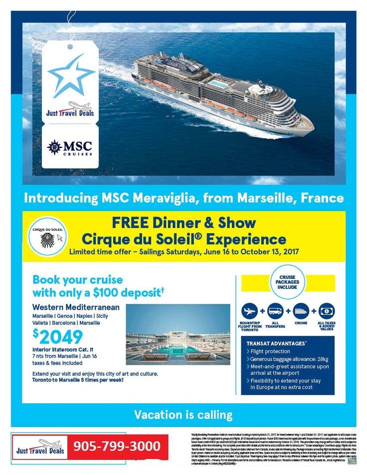 MSC Meraviglia from Marseille – Free Dinner & Show Cirque du Soleil® Experience