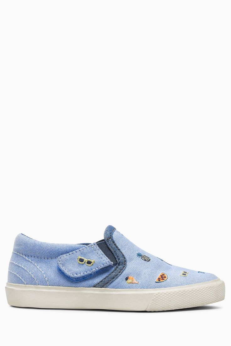 Skate shoes online shop - Buy Blue Embroidery Slip On Skate Shoes Younger Boys From The Next Uk