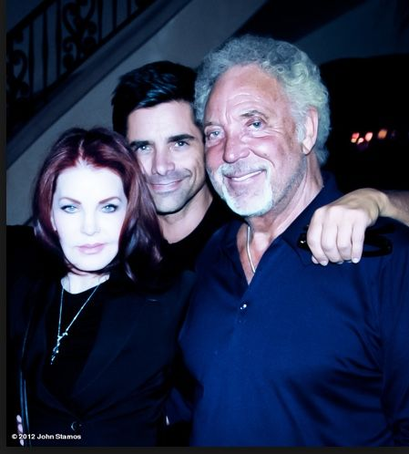 (Then and now) First picture: Priscilla Presley and Tom Jones in 1967 with Elvis Second picture: Priscilla Presley and Tom Jones in 2012