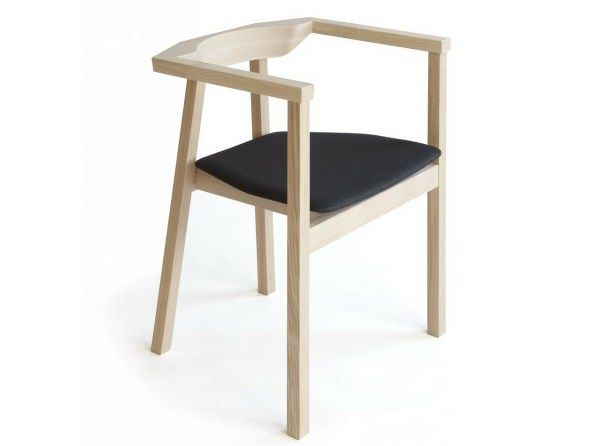 Wooden chair with armrests SKANDINAVIA UPSALA BDT1 by Nikari design Björn Dahlström