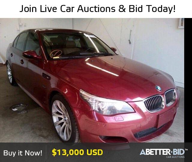 Salvage  2008 BMW M5 for Sale - WBSNB93508CX08117 - https://abetter.bid/en/29640446-2008-bmw-m5