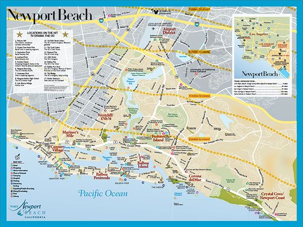 Newport Beach Map  California Dreaming  Pinterest