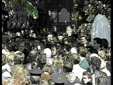 Dalida et Orlando - Inauguration Place Dalida - Montmartre - 1997