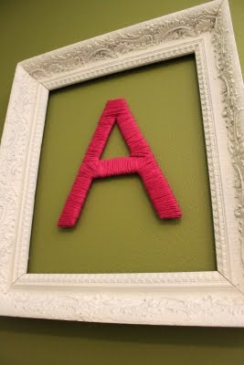 Yarn Covered Letter