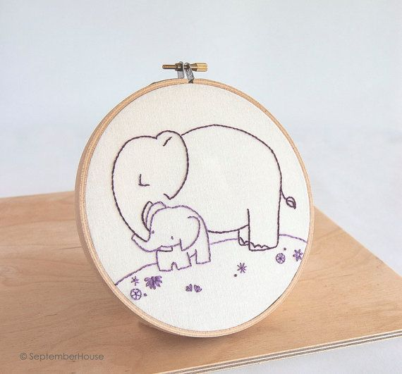 Animal Babies is the adorable new hand embroidery pattern set from SeptemberHouse featuring five fresh designs for your next embroidery project.