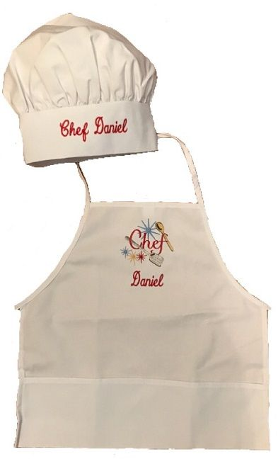 Personalized Kids Chef Apron And Chef Hat Set From Growingcookscom