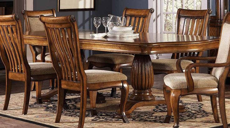 Classic Wooden Pedestal Table  -  A wooden pedestal table is one of the most basic types of furniture. A wooden pedestal table is characterized by a single post that holds up the table...
