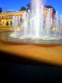 Fountain at the University of Memphis campus