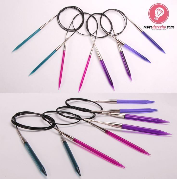 Si eres una loca del tejido a palillo (como nosotras), debes tener estos increíbles palillos de acrílico premium en los tamaños 3.5, 4, 4.5, 5, 5.5, 6, 7 y 8 mm intercambiables con sus cables de 60, 80 y 100 cm… ¡un set de lujo para no perdérselo!  #palillos #tejedoras #providencia #recoleta www.revesderecho.com