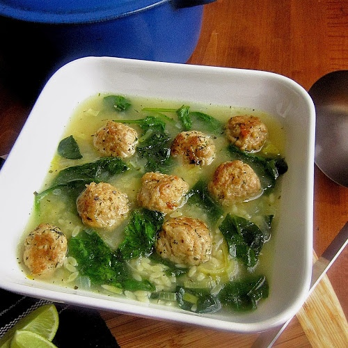 Chicken Meatball Spinach Orzo Soup | Soups & Salads | Pinterest