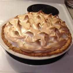 Mom's Chocolate Meringue Pie - I cut the cocoa powder to 3 tablespoons (my gramma only used 3), and do a mixture of cornstarch and flour for a smoother consistency... tastes JUST like my gramma's!