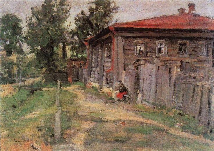 Уголок провинции (Улица в Переславле) - Константин Коровин 1905