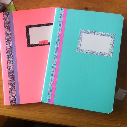 Washi Tape // DIY // NoteBook // Back To School