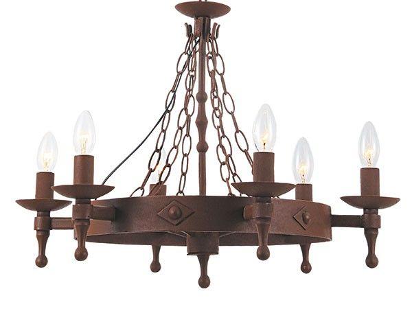 Bero lysekrone i rustikk jern