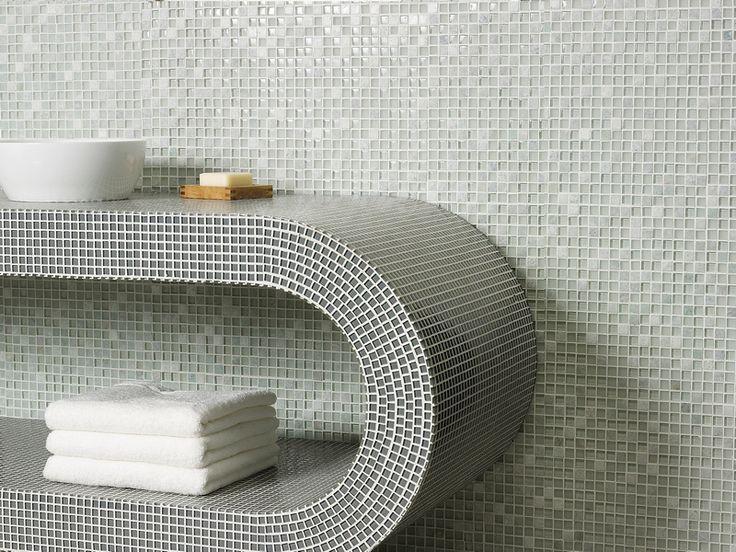 Mozaiek tegeltjes badkamer badkamer en moza ektegels pinterest toilets interieur and search - Deco badkamer vintage ...