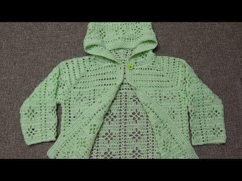 Suéter 3 a 4 años Crochet parte 4 de 4 - YouTube