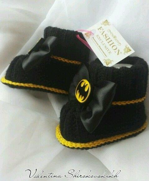 Бэтмен. ручной работы BABY БОТИНОК. прелестный черный пинетки. Baby ботинок. in Одежда, обувь и аксессуары, Одежда для малышей, Детская одежда унисекс (новорожденные-5Т) | eBay
