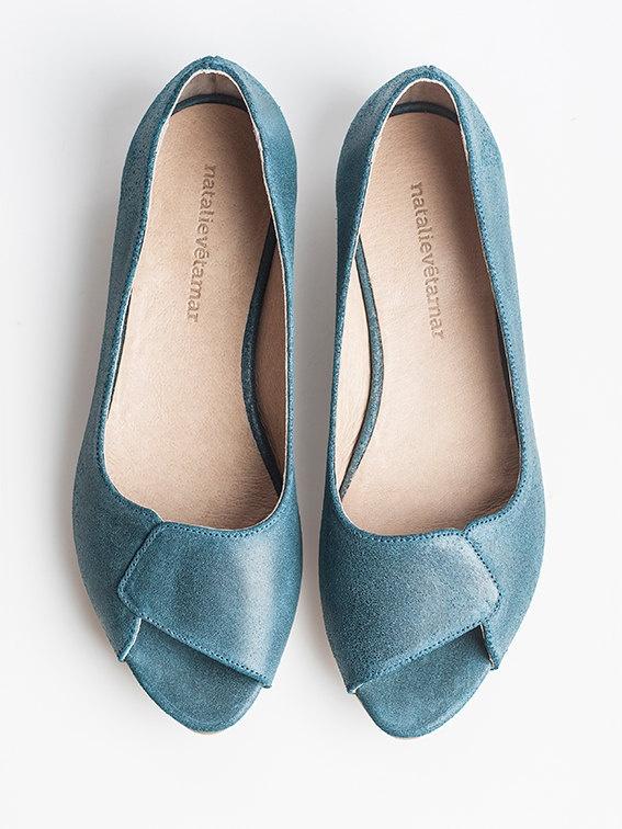 SALE 35% OFF Aya aquamarine peep toes. $108.00, via Etsy.