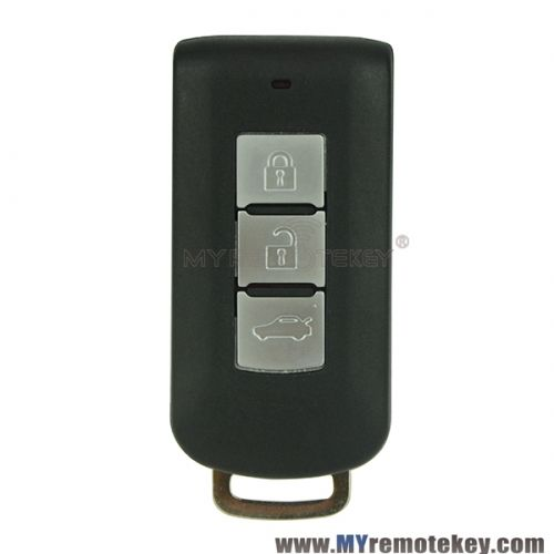For Mitsubishi 3 button smart key case with emergency key blade