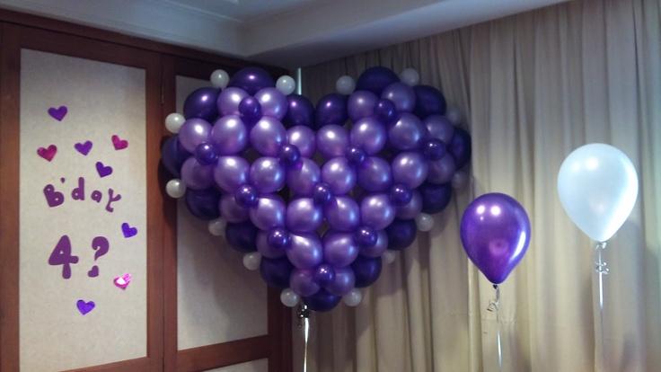 Birthday balloon decoration balloon decorations for for Balloon decoration ideas for 18th birthday
