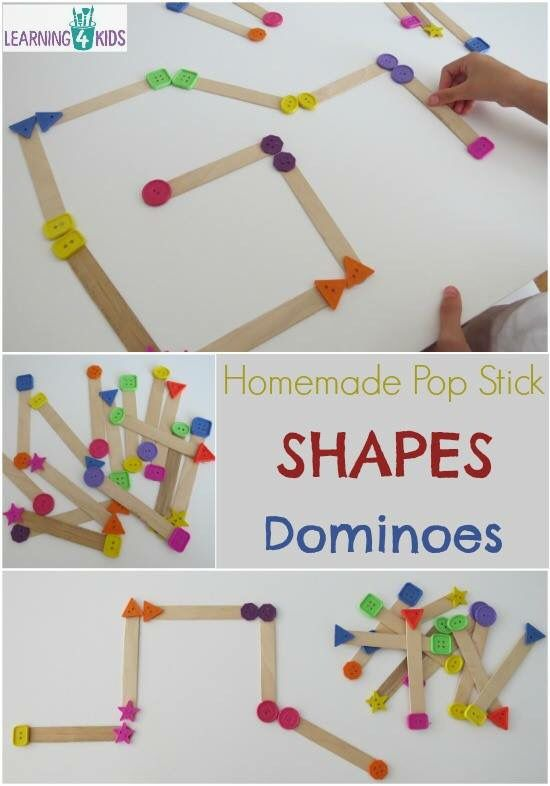 Description- Will teach kids how to understand the differences between shapes, and creating their own images with the sticks.   Age Group- 3-5  Foundations- M4.2: Exhibit ability to identify, describe, analyze, compare, and create shapes. M4.1: Understanding of spatial relationships.