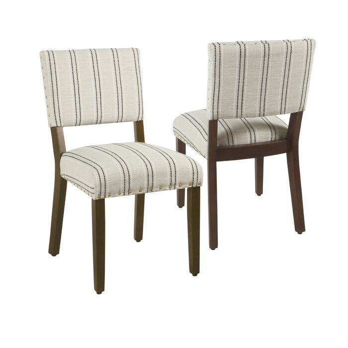 Camilo Stripe Upholstered Dining Chair Striped Dining Chairs