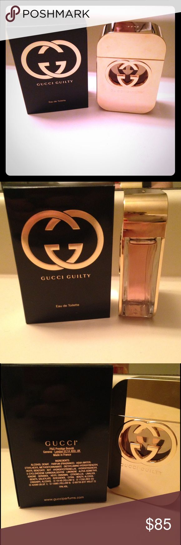 *BRAND NEW* Women's Gucci Guilty 75ml perfume So my boyfriend and mom did not communicate well about Christmas presents and both ended up getting me my favorite perfume. As much as I love it I just don't need 2 giant bottles of it, its brand new still in the box haven't even opened the bottle! Smells wonderful💗💗💗 Gucci Other