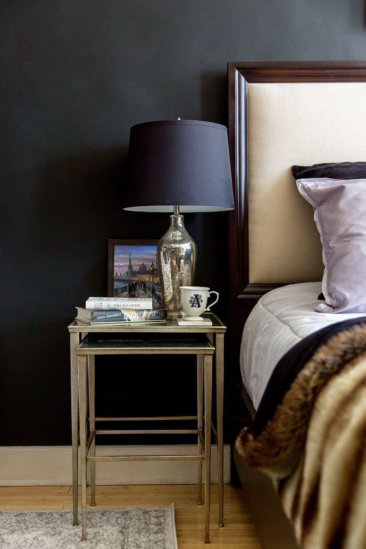 прикроватный столик лампа