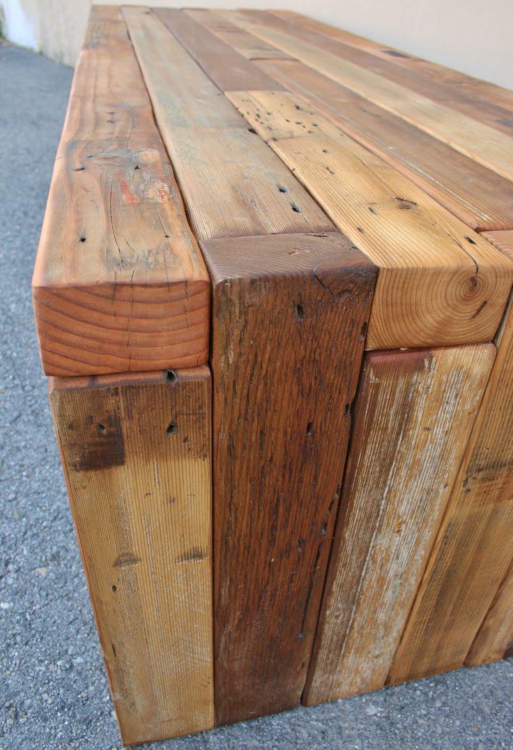 Hand made reclaimed cedar box joint bench coffee table by - The Urbane Bench Coffee Table Made From Reclaimed Cedar