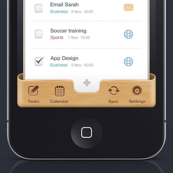 Iphone UI User Interface Design Inspiration
