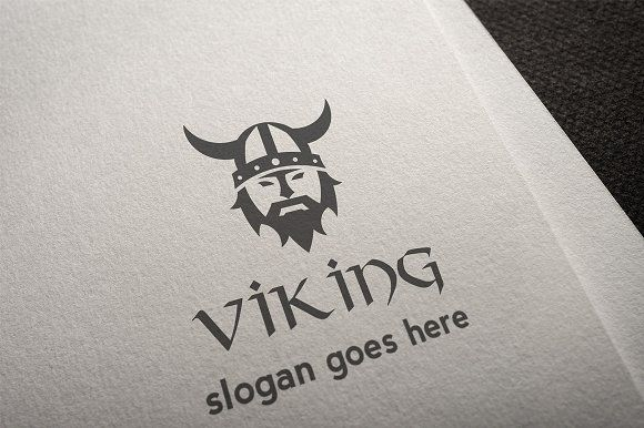 Viking Logo by It's a Small World on @creativemarket #logo fully editable and resizable, customize it to your own liking