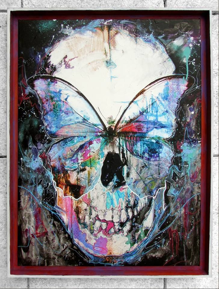 """Danny O'Connor (DOC) new """"Butterfly Skull"""" piece"""
