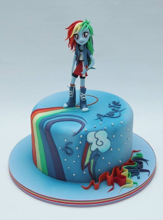 Rainbow Dash Cake Design : The 194 best images about My Little Pony - Equestria Girls ...