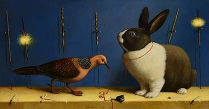 ilya zomb, rabbit, balance in art, balanced art