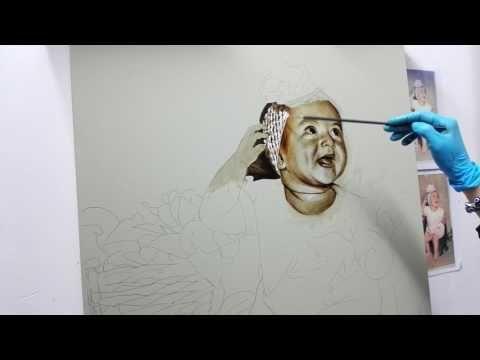 Pintura de retrato en proceso 2 - YouTube