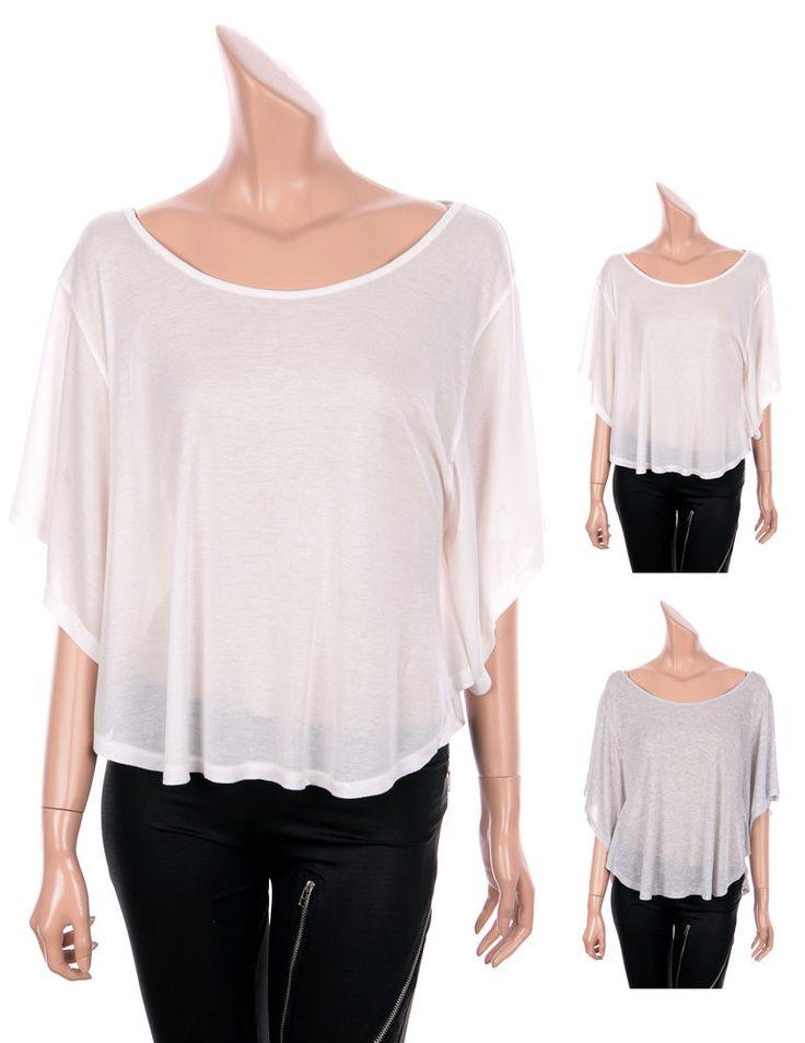 Modal Swing Tees Tops Short Sleeve Off-The-Shoulder T-shirts 2 Colors  sz XS, S #GENTFLAPPER #BasicTee