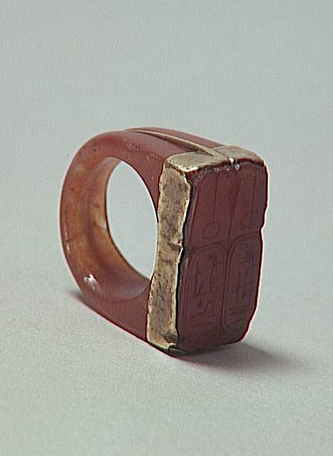 Red Jasper Ring Ramses Ii