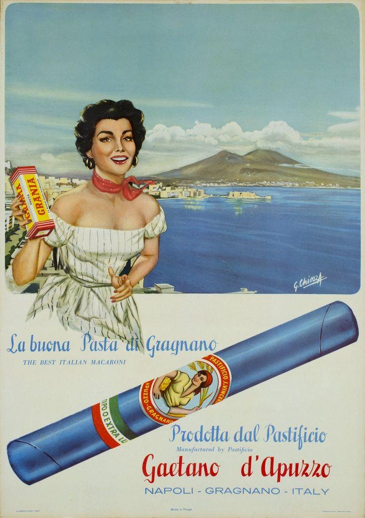 Gaetano d'Appuzzo, la buona pasta di Gragnano. G. CHIOZZA  (1955 circa)