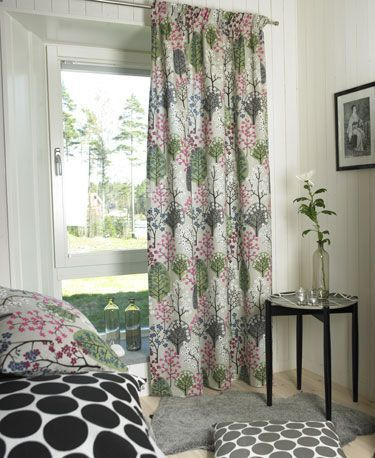 Scandinavian Curtains Lined Haga Grey Made to by OOMFinteriors