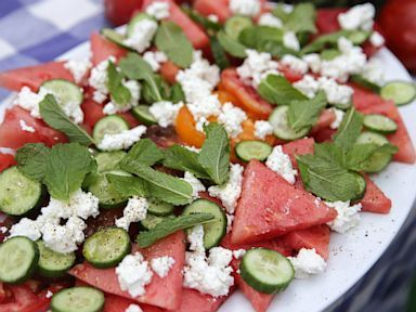 Watermelon Tomato Salad With Feta and Mint