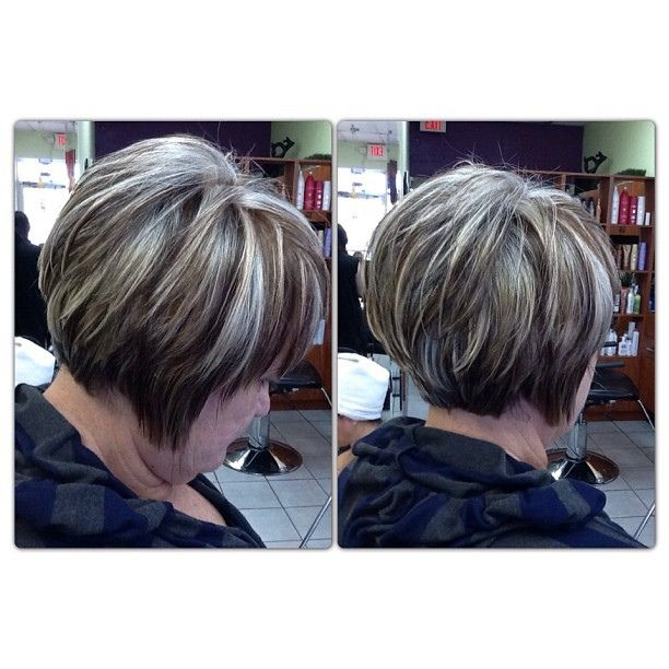 These are #highlights # lowlights on completely # gray hair !